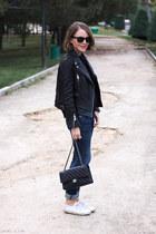 black The Kooples jacket - navy rag & bone jeans - black The Kooples sweater