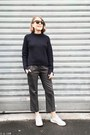 Navy-maje-coat-navy-31-phillip-lim-sweater-black-celine-bag