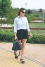 Light-blue-jcrew-shirt-navy-louis-vuitton-bag-navy-wood-wood-shorts