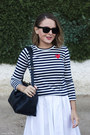 Navy-louis-vuitton-bag-black-ray-ban-sunglasses-white-maxmara-skirt