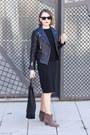 Light-brown-isabel-marant-boots-black-gap-dress-black-the-kooples-jacket
