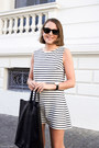 White-wood-wood-dress-black-celine-bag-black-ray-ban-sunglasses