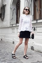 black Reed Krakoff bag - white The Kooples shirt - black Marc Jacobs sunglasses
