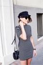 Navy-t-by-alexander-wang-dress-navy-carven-bag-black-ray-ban-sunglasses