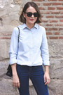 Navy-topshop-jeans-light-blue-j-crew-shirt-black-chanel-bag