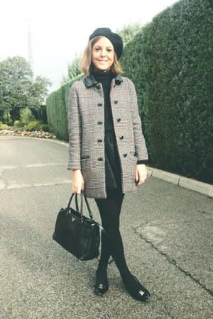 SANDRO coat - Prada bag - Petit Bateau sweatshirt - Salvatore Ferragamo flats