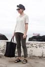 Gray-topshop-jeans-navy-barbour-hat-black-celine-bag