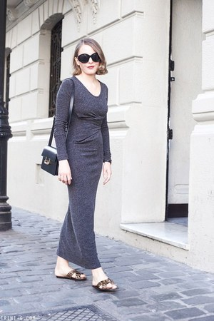 black Saint Laurent bag - charcoal gray t by alexander wang dress