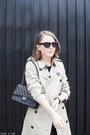 Black-the-kooples-dress-beige-burberry-coat-black-chanel-bag