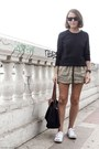 Dark-gray-equipment-sweater-black-longchamp-bag
