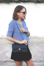 Navy-the-kooples-shirt-black-chanel-bag-black-ray-ban-sunglasses