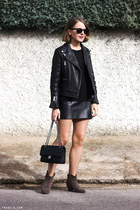 black The Kooples dress - light brown Isabel Marant boots