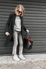 Black-claudie-pierlot-coat-silver-topshop-jeans-black-mansur-gavriel-bag