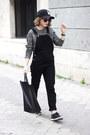 Black-los-angeles-dodgers-hat-heather-gray-acne-sweater-black-celine-bag