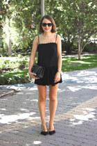 black Chanel bag - black ray-ban sunglasses - black Isabel Marant skirt