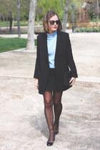 black Valentino shoes - black The Kooples coat - black Reed Krakoff bag