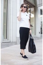 black Celine bag - black Ray Ban sunglasses - black Isabel Marant skirt