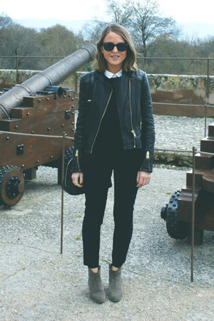 The Kooples jacket - Isabel Marant boots - The Kooples shirt - Louis Vuitton bag