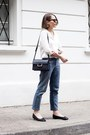 Light-blue-claudie-pierlot-jeans-off-white-the-kooples-shirt