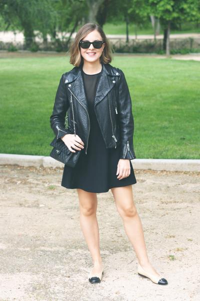 black The Kooples dress - black The Kooples jacket - black The Kooples bag
