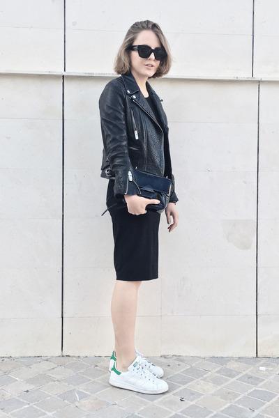black Gap dress - black The Kooples jacket - black Reed Krakoff bag