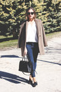 Black-miu-miu-shoes-light-brown-the-kooples-coat-navy-topshop-jeans