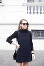 Black-miu-miu-shoes-navy-vanessa-bruno-dress-black-petit-bateau-sweater