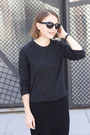 Black-gap-dress-dark-gray-equipment-sweater-black-alexander-wang-bag