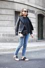 Black-gh-bass-shoes-sky-blue-gap-jeans-black-the-kooples-jacket