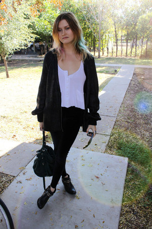 Jeffrey Campbell boots - Alexander Wang sweater - Alexander Wang bag