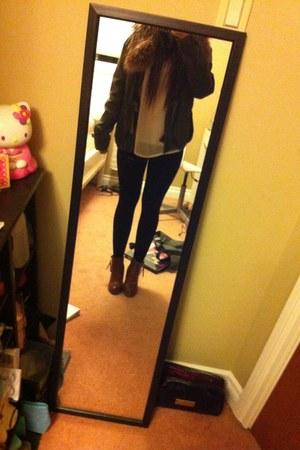 Spring boots - Mercury Duo coat - Aritizia leggings - Urban top