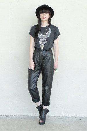 black leather Trashy Vintage pants