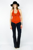 burnt orange Trashy Vintage top