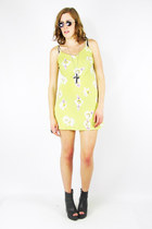 lime green floral mini Trashy Vintage dress