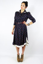 navy calico floral Trashy Vintage dress