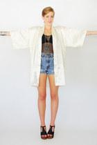 off white kimono Trashy Vintage cape
