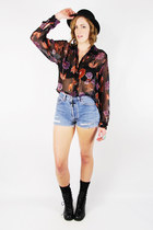 black Trashy Vintage blouse
