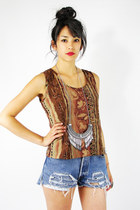 brown Trashy Vintage top