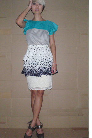 blouse - skirt - skirt - shoes