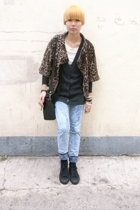 Mango jacket - forever 21 vest - pants - Converse shoes