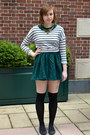 Forest-green-h-m-dress-black-steve-madden-shoes-heather-gray-h-m-sweater