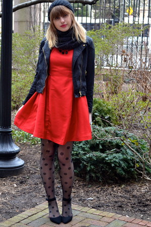 Prabal Gurung for Target dress - TJ Maxx hat - H&M jacket - XXI tights