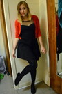 Black-one-clothing-dress-black-cynthia-rowley-tights-red-forever-21-cardigan