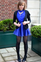 blue H&M skirt - black Prabal Gurung for Target shoes - black H&M cardigan