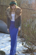 christian dior scarf - stole vintage scarf - Forever 21 cardigan - Issi skirt
