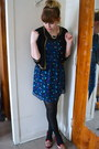 Navy-xxi-dress-black-xxi-cardigan-brick-red-xxi-loafers