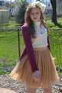 White-nick-and-mo-blouse-maroon-aero-cardigan-gold-forever-21-skirt