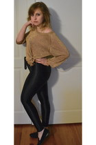bronze one7six top - black American Apparel pants