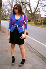 Black-charlotte-russe-dress-forever-21-heels-deep-purple-delias-cardigan