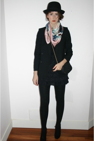 Urban Outfitters hat - eaton blazer - Betsey Johnson dress - D&G shoes - Moschin